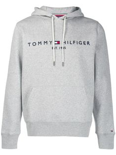 Tommy Hilfiger Logo Embroidered Hoodie In Grey Sueter Tommy Hilfiger, Tommy Hilfiger Outfit, Tommy Hilfiger Sweatshirt, Tommy Hilfiger Jackets, Hilfiger Denim, Tommy Hilfiger Women, Tommy Hilfiger Clothing, Tommy Clothes, Stylish Hoodies