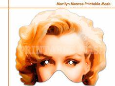 Unique Marilyn Monroe Printable Mask costumes by AmazingPartyShop