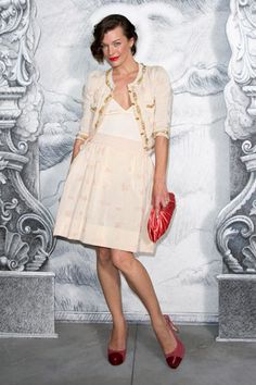 milla @CHANEL fashion show in paris