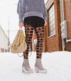 Geometric pattern tights -  Cleveland Fashion - street style
