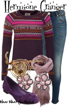 Emma Watson as Hermione Granger in the Harry Potter film franchise - Shopping info! Harry Potter Mode, Harry Potter Style, Harry Potter Outfits, Outfits Jeans, Nice Outfits, Winter Outfits, Harry Potter Kleidung, Estilo Preppy, Fandom Fashion