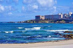 A Coruña La Corogne Galice Espagne 196 - Av Pedro Barrié de la Maza, la plage