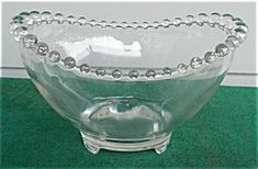 "Imperial Candlewick 8 1/2"" 3-Toe Bowl"