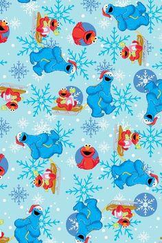 Elmo Christmas, Sesame Street Christmas, Christmas Cartoons, Merry Christmas, Elmo Wallpaper, Decoupage, Elmo And Cookie Monster, Sesame Street Characters, Christmas Wallpaper
