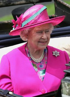 HRH Queen Elizabeth II  at Royal Ascot 2007 on June 19, 2007 in Ascot, England.