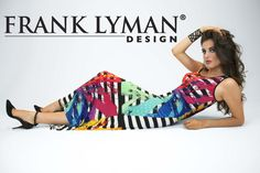 Stunning maxi dress by Frank Lyman. To be styled casual with a jeans jacket, with a small bolero or pure for a festive occasion. Boutique Lingerie, Fashion Boutique, Lingerie Fine, Terani Couture, Color Azul, Spring Summer 2015, Summer Collection, Tie Dye Skirt, Womens Fashion