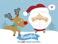 Rudolph The Red Nosed Reindeer Christmas Music Video for Kids.