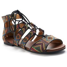 Mudd® Women's Woven Lace-Up Gladiator Sandals