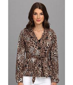 dollhouse Cotton Trench w/ Belted - Leopard Leopard - 6pm.com