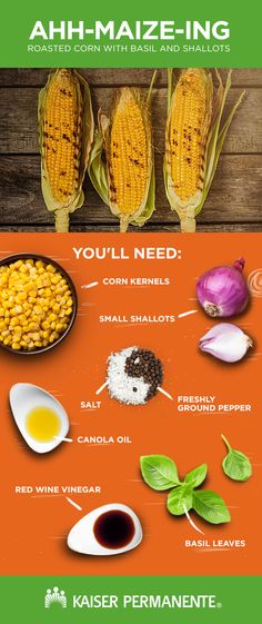 This roasted corn with basil and shallots recipe from our Food For Health Blog is all you need to celebrate Corn on the Cob Day.
