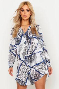 Dresses   Womens Dresses Online   boohoo UK Long Sleeve Smock Dress, Plus Size Shirt Dress, Plus Size Black Dresses, Plus Size Outfits, Oversized Shirt Dress, Belted Shirt Dress, Gray Dress, Maxis, Midi Skater Dress