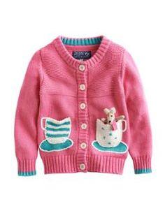 Joules PETULA Girls Tea Cup Cardigan