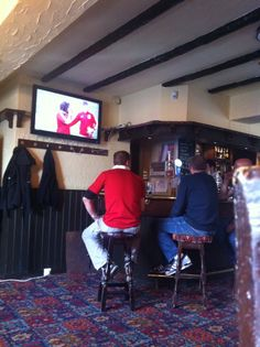 June - watching the Lions v Australia in Queens Head, Gilesgate, Durham