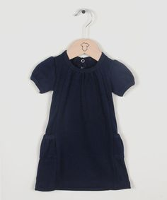 Marine Short-Sleeve Pocket Dress