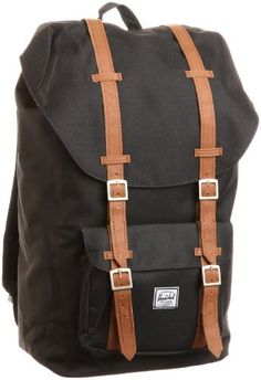 Herschel Supply Little America Backpack Black, One Size Herschel Supply Co.. $84.99. Full grain leather and antique brass or color matched front closures. 100% cotton. Heavy weight cotton canvas