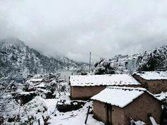 Pauri Garwal, Snowfall, Uttarakhand.