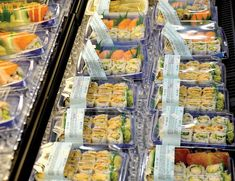 Grocery stores aren't just for buying ingredients any more. Here are some of our favourite grocery stores for meals to go. And they're all healthy and fresh. #groceries #mealstogo #fresh #fast #dining #sushi