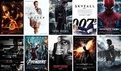 movies 2012 | Best Action Movies 2012 The Hunger Games, Looper, Total Recall, Skyfall, The Amazing Spider-Man, The Bourn Legacy, The Avengers, Safe House, Batman the dark knight rises, Snow White and the Huntsman