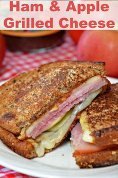 Ham & Apple Grilled Cheese -  The flavors of this sandwich just scream fall.