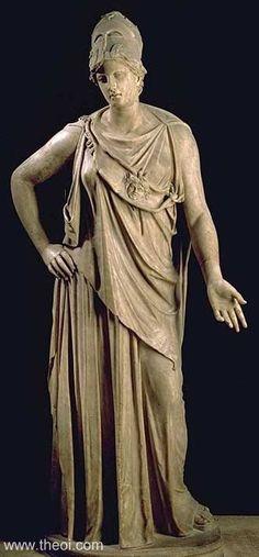 """ATHENE """"PEACEABLE ATHENA""""    Museum Collection:Musée du Louvre,   Paris, France   Catalogue Number:Louvre Ma 530   Title:""""Athena Pacifique"""" or """"Athena Mattéi"""""""