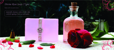 Divine Rose Soap .. Made with rose petal extract  www.indiyra.com