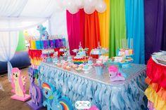 Layla's Rainbow Dash 3rd Birthday Party | CatchMyParty.com