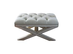 Tufted Wallis Bench MidCentury Modern, Upholstery Fabric, Bench by Steven Gambrel (=) X Bench, Tufted Bench, Ottoman Bench, Door Bench, Hall Bench, Living Room Upholstery, Upholstery Trim, Upholstery Nails, Upholstery Cleaner