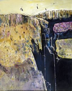 Waterfall polyptych, by Fred Williams Abstract Landscape Painting, Landscape Paintings, Abstract Art, Australian Painters, Australian Artists, Fred Williams, Installation Art, Art Forms, Waterfall