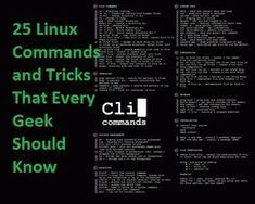 25 Linux Commands and Tricks That Every Geek Should Know Life Hacks Computer, Computer Class, Computer Coding, Computer Technology, Computer Programming, Computer Science, Python Programming, Computer Tips, Phone Hacks