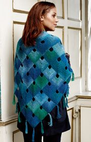 Domino knot shawl