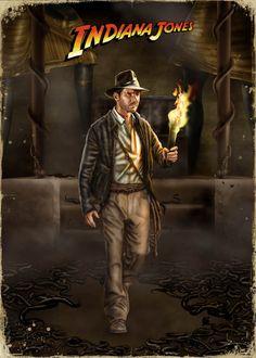 Indiana Jones antorcha templo Raiders - http://www.indianajones.es/concursos/cfa2008.php