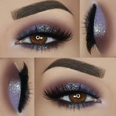 Easy To Do Eye Makeup Ideas with Glitter Cream Eyeshadow Tutorial around Glitter Eyeshadow Palette Private Label; Smokey Cat Eye Makeup For Brown Eyes Eye Makeup Tips, Mac Makeup, Makeup Goals, Skin Makeup, Eyeshadow Makeup, Beauty Makeup, Eyeshadow Palette, Makeup Kit, Makeup Ideas