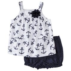 JUST ONE YOU Made by Carters Infant Girls Short Set - NavyWhite  omgg <333