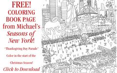 Michael Storrings – Art That Celebrates: Free Coloring Page of the Macy's Thanksgiving Day Parade