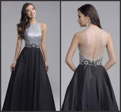 Open Back Sliver Sequin Gold Sliver Prom Gown Long Sleeveless Jewel Neck High Quality Party Wear Long Hot Sale Elegant Sweet 16 Girls Backless Prom Dress Beaded Prom Dresses From Lovemydress, $85.63| Dhgate.Com
