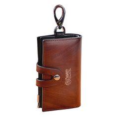 eb67e86b6af5 7 Delightful Classic Black Multifunction Genuine Leather Key Case ...