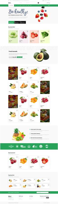 FRESH ORGANIC FOOD auction site auctions site auction wordpress auction platform Organic Recipes, Wordpress, Web Design, Auction, Typography, Purpose, Contrast, Platform, Fresh