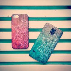 Samsung Galaxy S6 Edge S5 S4 Grand Core Prime Mini Case Mandala Pink Wood Print