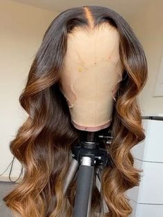 Pelo Color Borgoña, Ombre Color, Lace Wigs, Lace Front Wigs, Lace Front Sew In, Curly To Straight Hair, Natural Hair Styles, Long Hair Styles, Natural Hair Wigs