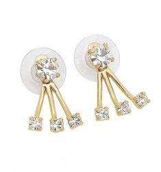 Kate Spade Womens Dainty Sparklers Gold tone Crystals Stud Ear Jacket O0RU1665 #KateSpade #Stud Ear Jacket, Kate Spade Earrings, Sparklers, Crystals, Gold, Style, Swag, Party Sparklers, Crystal