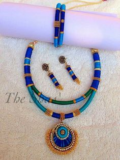 Silk Thread Bangles Design, Silk Thread Necklace, Silk Bangles, Beaded Necklace Patterns, Thread Jewellery, Fabric Jewelry, Jewelry Patterns, Handmade Pearl Jewelry, Beaded Jewelry