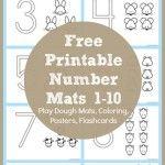Number Coloring Printables