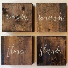 Wood Bathroom Sign (2)