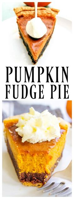 PUMPKIN FUDGE PIE - A Dash of Sanity