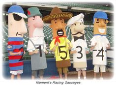 The Klements Racing Sausages, photo courtesy of Klements