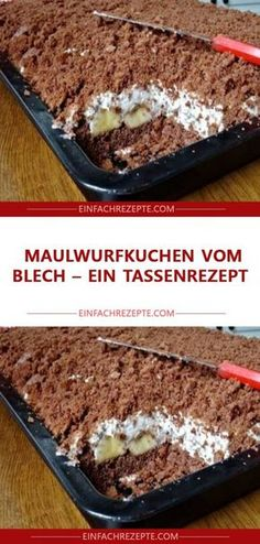 Mole cake from the tin - a cup recipe 😍 😍 😍 - Thermomix - - Maulwurfkuchen vom Blech – ein Tassenrezept 😍 😍 😍 Mole cake from the tin - a cup recipe 😍 😍 😍 Easy Smoothie Recipes, Easy Smoothies, Good Healthy Recipes, Healthy Snacks, Healthy Nutrition, Healthy Eating, Cupcake Recipes, Cookie Recipes, Snack Recipes