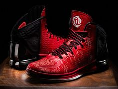 bad54a025e4c Authentic adidas D Rose 4 Brenda Light Scarlet Clear Grey Discount Sale