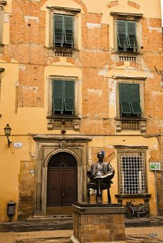 Puccini's House in Lucca, Tuscany, Italy
