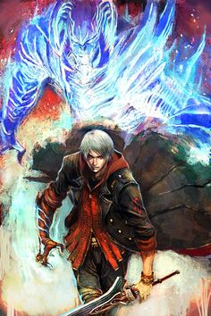 Nero (Devil May Cry) Mobile Wallpaper - Zerochan Anime Image Board Devil May Cry 4, Nero Dmc, Fanart, Video Game Art, Game Character, Fantasy Characters, Geeks, Fantasy Art, Crying