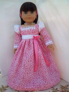 American Girl doll Valentine Princess dress and by BritishBelles, $20.00